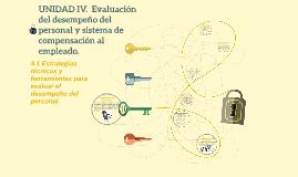 Copy of UNIDAD IV.  Evaluación del desempeño del personal y sistema