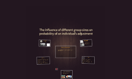 The influence of different group sizes on probability of an