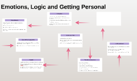 Emotions, Logic and Getting Personal