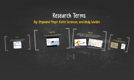Research Terms