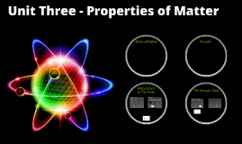 Unit Three - Properties of Matter