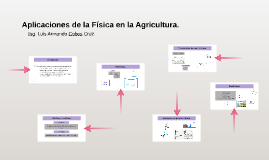 Copy of Aplicaciones de la Física en la Agricultura.
