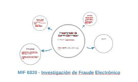 Investigación de Fraude Electrónico