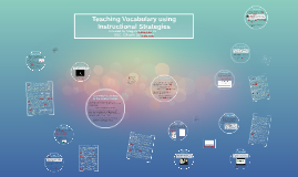 Teaching Vocabulary using Instructional Strategies