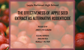 THE EFFECTIVENESS OF APPLE SEED EXT