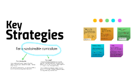 Curriculum development strategies