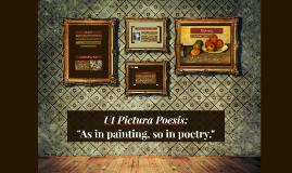Ut Pictura Poesis: