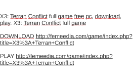 X3: Terran Conflict full game free pc, download, play. X3: T