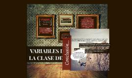 VARIABLES DIDÁCTICAS EN LA CLASE DE MATEMÁTICAS