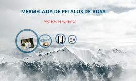 MERMELADA DE PETALOS DE ROSA