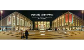 Operatic Voice Parts
