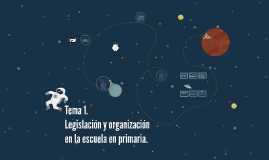 Legislación y organización en la escuela en primaria.