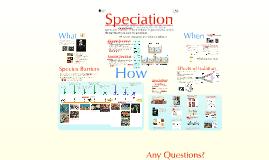 Evolution 5:  Speciation