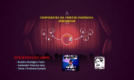 Copy of COMPONENTES DEL PROCESO ENSEÑANZA-APRENDIZAJE