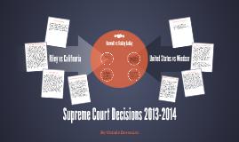 Supreme Court Decisions 2013-2014