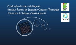 Projeto de construçao do centro de línguas