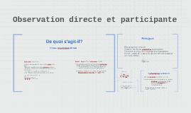 Observation directe et participative