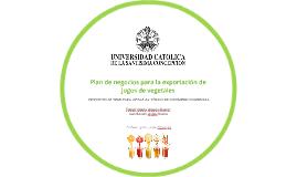 Plan de negocios para la exportación de jugos de vegetales