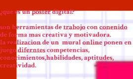 ¿que es un poster digital?