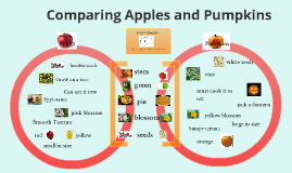 by making a venn diagram for an apple and a pumpkin includes a