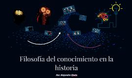 Filosofía del conocimiento en la historia
