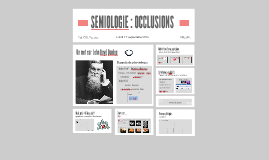 SEMIOLOGIE - OCCLUSIONS