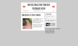 WHAT MILLENNIALS WANT FROM THEIR PERFORMANCE REVIEW