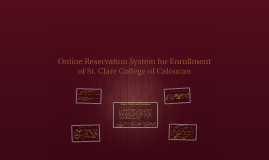 Online Reservation for Enrollment of St