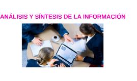 ANALISIS Y SINTESIS DE LA INFORMACIÓN