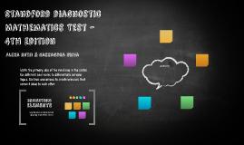 Stanford Diagnostic Mathematics Test – 4th edition