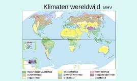 Project Klimaten wereldwijd