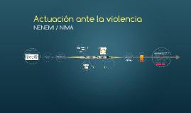 Actuación ante la violencia