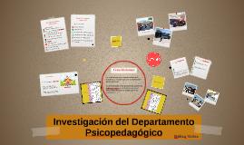 Investigación del Departamento Psicopedagógico