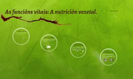 As funcións vitais: A nutrición vexetal.