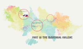 Unit 15 The Electoral College