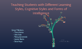 Teaching Students with Different Learning Styles, Cognitive Styles and Forms of Intelligence