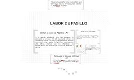 LABOR DE PASILLO