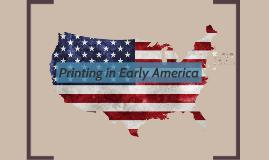 Printing in America