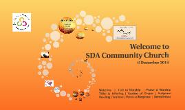 SDACC Worship Service - 6 Dec 2014