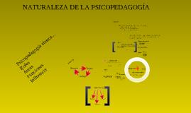 Naturaleza de la psicopedagogia