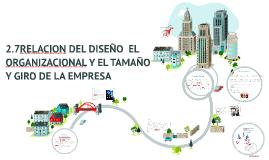 Copy of RELACION DEL DISEÑO  EL ORGANIZACIONAL Y EL TAMAÑO Y GIRO DE