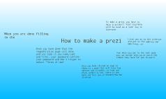 how to make aprezi