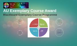 Copy of AU Exemplary Course Award