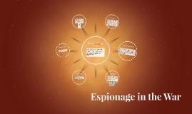Espionage in the War