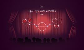 Tips: Pagsasalita sa Publiko