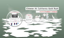 Chinese at California Gold Rush