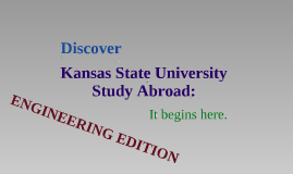 Discover K-State Study Abroad - Engineering