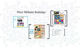 Wow Website Redesign