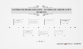 ACUERDO DE REORGANIZACIÓN - ACUERDO DE ADJUDICACIÓN DE BIENE