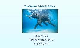 Copy of water crisis in africa